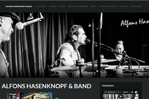 Homepage Alfons Hasenknopf & Band