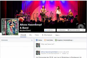 Alfons Hasenknopf & Band auf Facebook